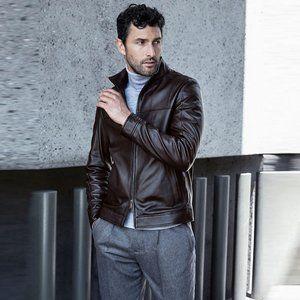 michael kors ∙ 100% lamb leather racer jacket